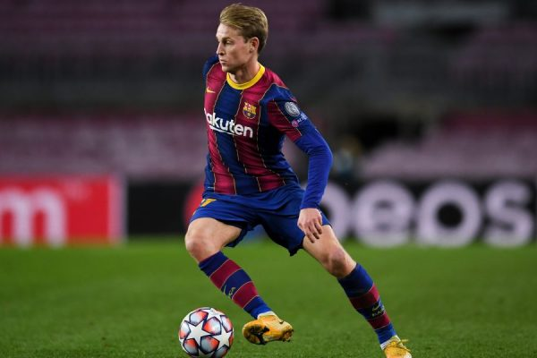 Barcelona midfielder Frenkie de Jong smiled as his team secured a 3-1 victory over Valencia in La Liga on Sunday night before embarking on a crucial fixture.